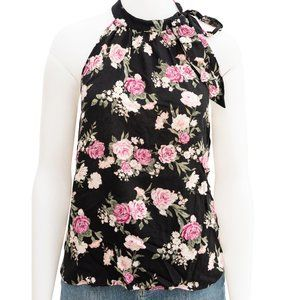 Forever 21 Floral High Neck Top Preloved Small